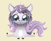 Leuk Unicorn Vector Illustration Art Stock Foto's