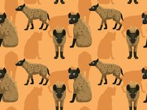 Leuk van het Hyenabeeldverhaal Naadloos Behang Als achtergrond royalty-vrije illustratie