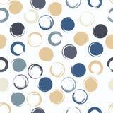 Leuk vector geometrisch naadloos patroon Borstelslagen, stippen Hand getrokken grunge textuur Abstracte vormen eindeloos stock illustratie