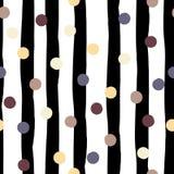 Leuk vector geometrisch naadloos patroon Stippen en strepen De slagen van de borstel Hand getrokken grunge textuur Samenvatting stock illustratie