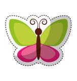 Leuk vlinder vliegend pictogram Stock Foto