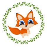 Leuk vosbeeldverhaal Royalty-vrije Stock Foto's