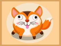 Leuk vosbeeldverhaal Grappig beeldverhaal en vector dierlijke karakters Stock Foto