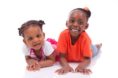 Leuk weinig Afrikaans Amerikaans meisje - Zwarte kinderen Royalty-vrije Stock Fotografie