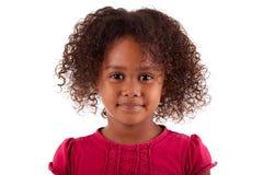 Leuk weinig Afrikaans Aziatisch meisje Royalty-vrije Stock Afbeelding
