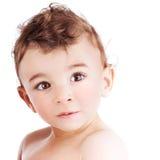 Leuk weinig baby Stock Foto's