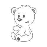 Leuk weinig beer Stock Foto's