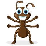 Leuk weinig bruine mier Stock Afbeeldingen