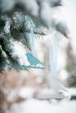 Leuk weinig decoratie van de vogelboom Royalty-vrije Stock Foto