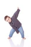 Het dansen van de jongen Stock Fotografie