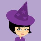 Leuk weinig heksenmeisje Royalty-vrije Stock Foto