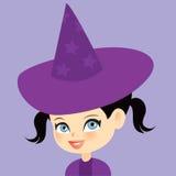 Leuk weinig heksenmeisje Royalty-vrije Stock Foto's
