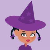 Leuk weinig heksenmeisje Stock Afbeeldingen