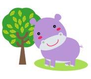 Leuk weinig hippo Royalty-vrije Stock Foto's