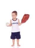 Leuk weinig sportieve jongen Stock Foto's