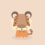 Leuk weinig tijger Stock Afbeeldingen