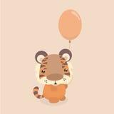 Leuk weinig tijger Stock Foto