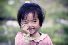 Leuk weinig Vietnamees meisje Royalty-vrije Stock Afbeeldingen