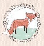 Leuk weinig vosillustratie voor kinderen. royalty-vrije illustratie
