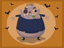 Leuk zombiebeeldverhaal Stock Foto