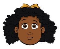 Leuk zwart meisje stock illustratie