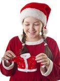 Leuke aanwezige Kerstmis Stock Afbeeldingen
