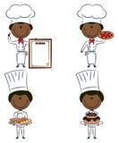 Leuke Afrikaans-Amerikaanse chef-kokmensen stock illustratie