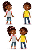 Leuke Afrikaanse Amerikaanse kinderen Stock Foto's