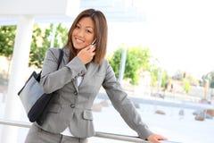 Leuke Aziatische BedrijfsVrouw stock foto