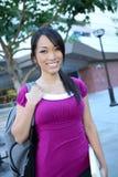 Leuke Aziatische Student bij Universiteit Royalty-vrije Stock Afbeelding