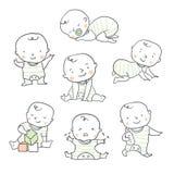 Leuke baby vectorillustratie voor babydouche royalty-vrije illustratie