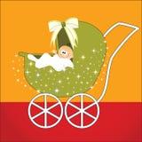Leuke baby in vervoer royalty-vrije illustratie
