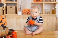 Leuke babyjongen Stock Foto