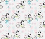 Leuke babypanda op fiets vector illustratie