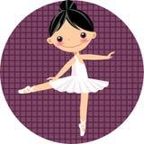 Leuke balletdanser, meisje stock illustratie