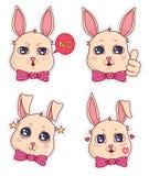 Leuke banny kentekens en stickers Deel 3 royalty-vrije stock foto's