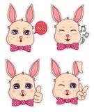 Leuke banny kentekens en stickers Deel 5 Royalty-vrije Stock Afbeelding