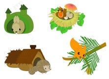 Leuke beeldverhaal bosdieren Stock Afbeeldingen