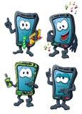 Leuke beeldverhaal creatieve smartphones Stock Afbeeldingen