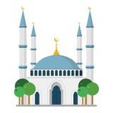 Leuke beeldverhaal vectorillustratie van een moskee stock illustratie