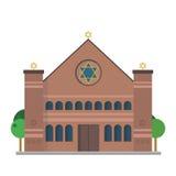 Leuke beeldverhaal vectorillustratie van een Synagoge stock illustratie