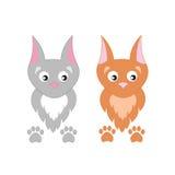 Leuke beeldverhaal vectorkatten Stock Foto's