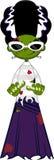 Leuke Beeldverhaalbruid van Frankenstein stock illustratie
