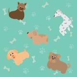 Leuke beeldverhaalhond, vectorillustratie Stock Foto's