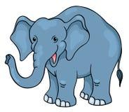 Leuke beeldverhaalolifant Stock Foto's