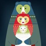 Leuke berenfamilie Stock Foto's