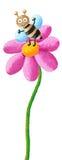 Leuke bij in de bloem stock illustratie