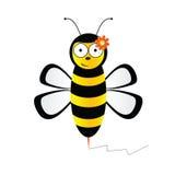 Leuke bij in zwarte en gele kleurenillustratie Royalty-vrije Stock Foto