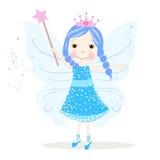 Leuke blauwe fairytalevector Royalty-vrije Stock Fotografie