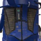 Leuke blauwe robot 3d illustratie Royalty-vrije Stock Foto's